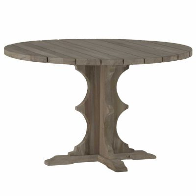 French Teak Round Dining Table
