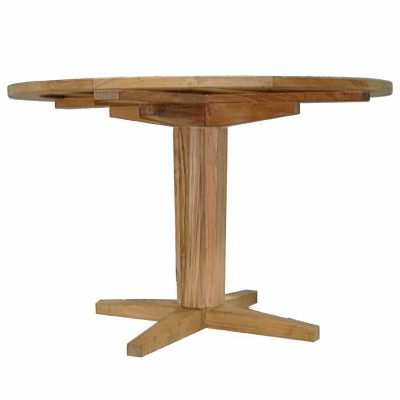 Club Teak Pedestal Base