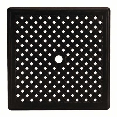 "Double Lattice 32"" Square Table Top (HOLE)"