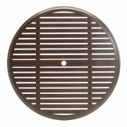 """Slatted 50"""" Dining Table Top (HOLE)"""